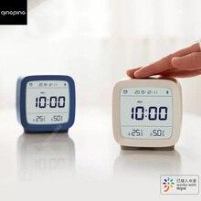 Youpin ClearGrass Bluetooth דיגיטלי מדחום טמפרטורה ולחות ניטור אזעקת שעון לילה אור 3 ב 1