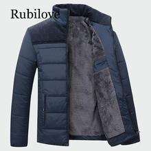 Rubilove Mens Thick Coats Winter Warm Male Jackets Padded Casual Hooded Parka New Men Overcoats Brand Clothing M-4XL