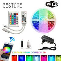 ИК wifi Светодиодная лента Водонепроницаемая 5 м 15 м 20 м RGB Светодиодная лента светильник 5050 RGB 30 светодиодный s/M гибкий светильник ing лента конт...