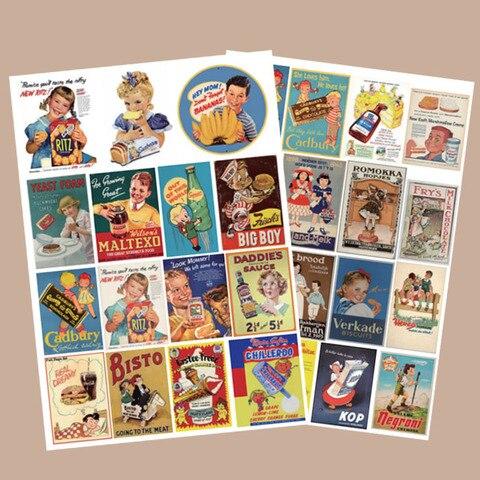20 conjuntos kawaii papelaria adesivos retro diy artesanato scrapbooking album lixo diario feliz planejador