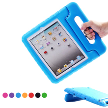 Cover Case Handle-Stand-Holder EVA Shockproof Apple iPad Full-Body-Protection Kids Portable