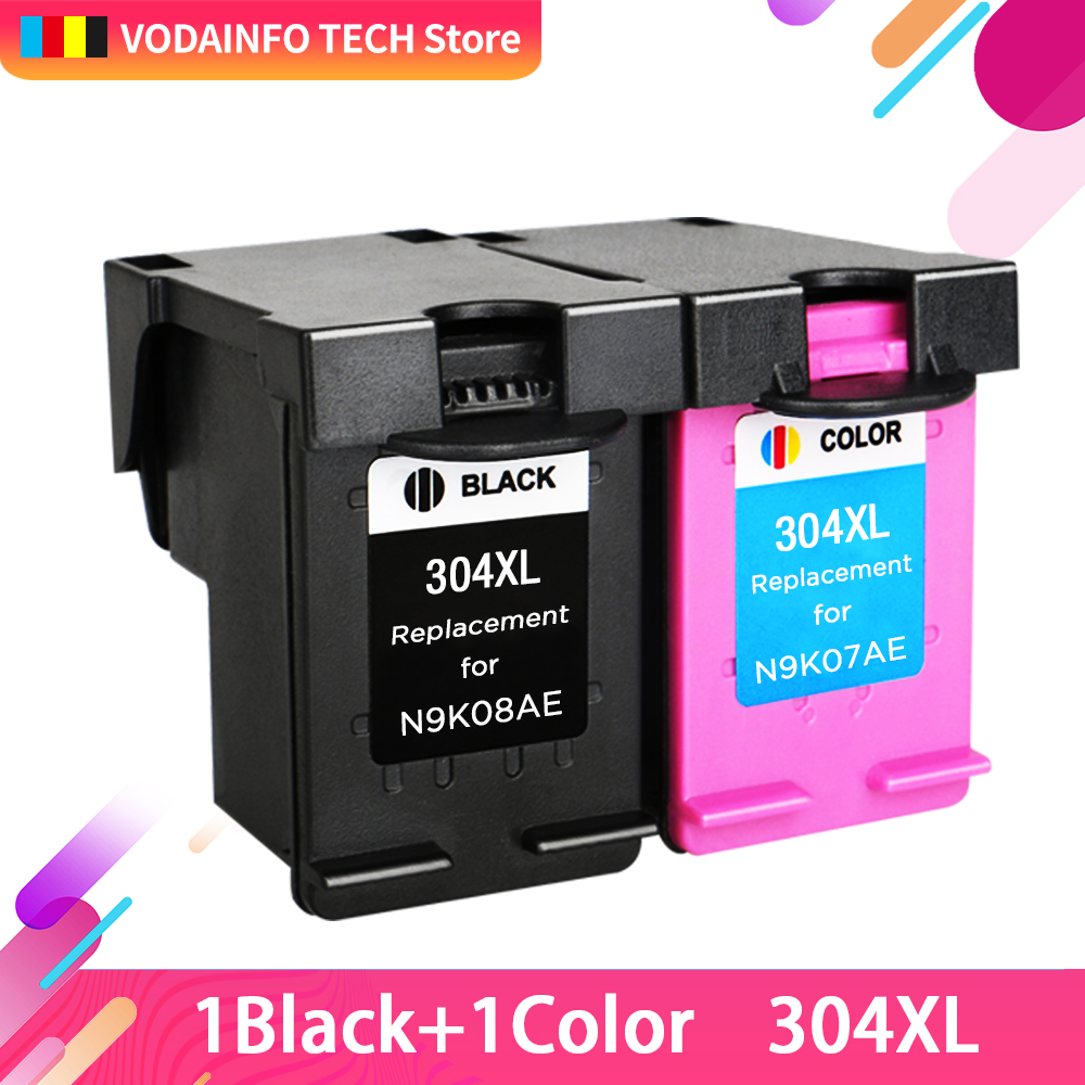 2pcs 304XL Ink Cartridge Compatible for <font><b>hp</b></font> <font><b>304</b></font> <font><b>xl</b></font> hp304 Cartridge for <font><b>hp</b></font> Envy 5030 5032 5034 2632 2630 2620 3752 3755 printer image