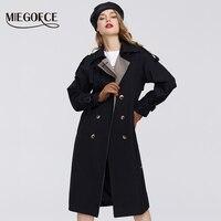 MIEGOFCE 2020 wiosna nowa kolekcja płaszcz damski ciepły wiatroszczelny płaszcz damski wiosna wykop wiosenna kurtka przeciwwiatrowa z guzikami w Trencze od Odzież damska na
