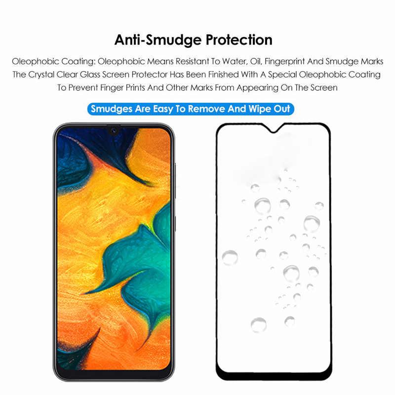 9D Kaca Pelindung Di untuk Samsung Galaxy A50 A40 A30 A20 A10 A60 A70 A80 A90 Tempered Kaca Film untuk samsung M10 M20 M30 A20