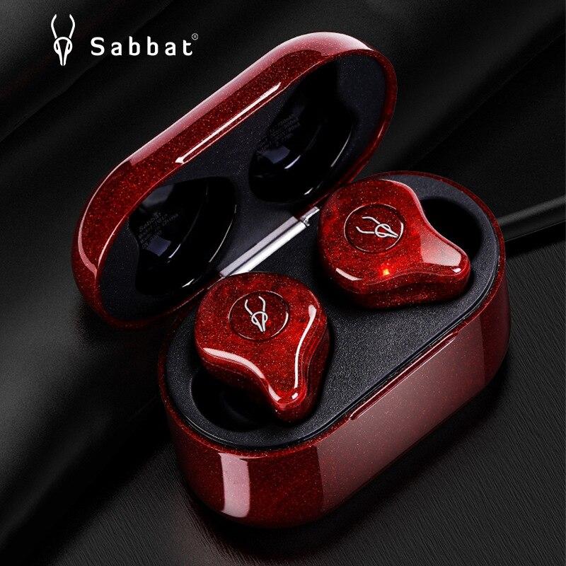 Fone de Ouvido Ruído sem Fio Sabbat Bluetooth Esportes Alta Fidelidade Estéreo Fones Redução pk X12 E12ultra Tws Qualcomm5.0