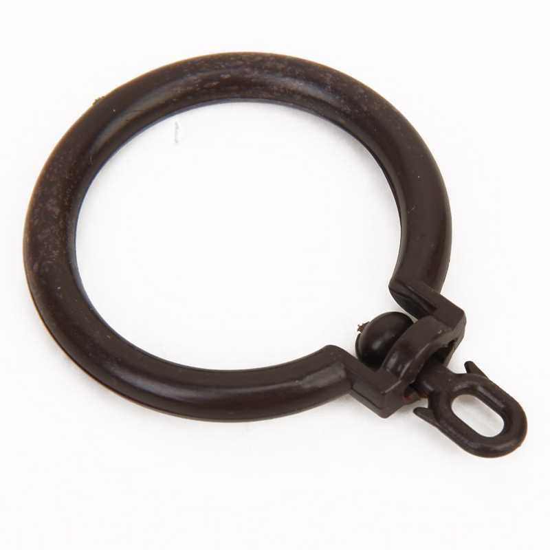 3Pcs Curtain Rod Rings with Eyelet---Coffee