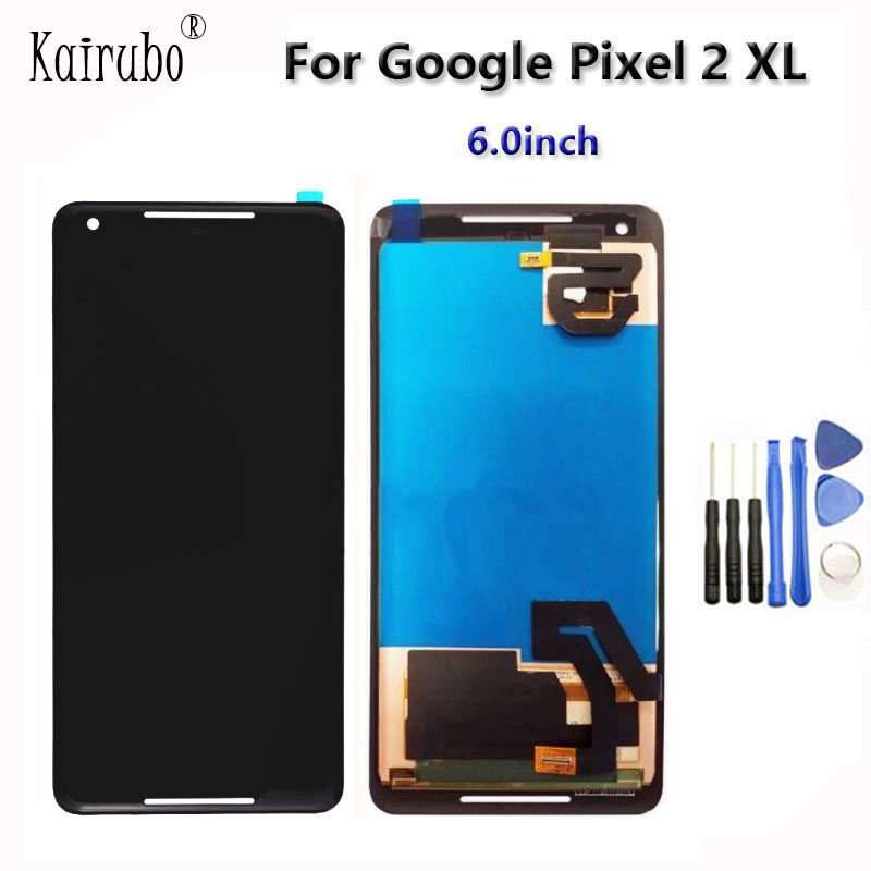 6 0 P OLED AAA Black For HTC Google Pixel 2 XL LCD Display Touch Screen