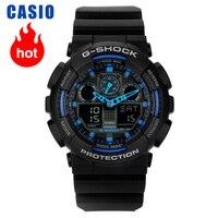 Casio relógio G SHOCK série multifuncional relógio esportivo masculino GA 100 1A2|Relógios de quartzo| |  -