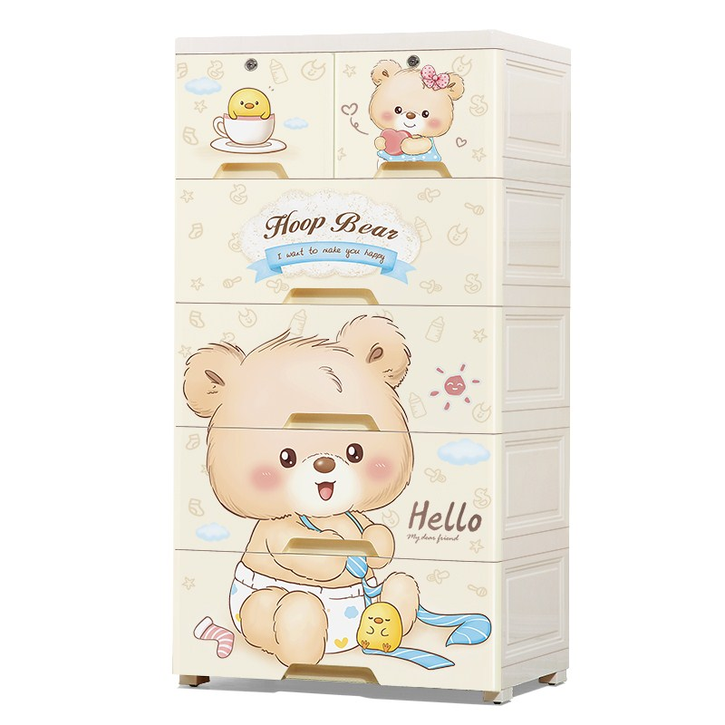 Drawer-type Receipt Cabinet Children's Wardrobe Storage Cabinet Baby Toy Tidy Box Baby Five-bucket Cabinet