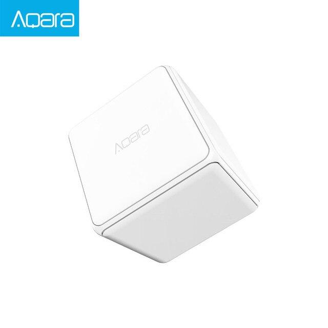 Aqara 큐브 컨트롤러 Zigbee 버전은 스마트 홈 장치 TV 스마트 소켓을위한 전화 app로 6 가지 동작으로 제어됩니다.