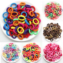 100 Pcs/lot 2.5CM High-elastic Kids Candy Color Hair Rope Elastic Scrunchie Hair Bands