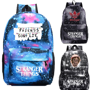 IMIDO Stranger Things Backpacks for Boys Girls Personality Printed Shoulders Backpack Students Back to School Casual Travel Bag totoro anime cosplay backpack ogino chihiro cartoon canvas travel backpacks shoulders school bag best students gifts