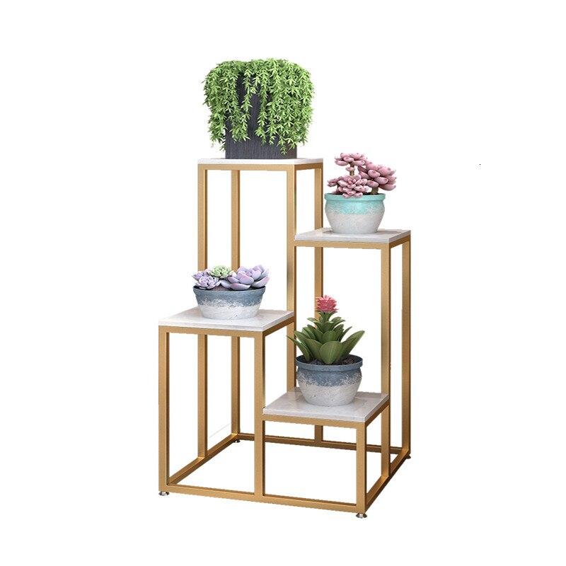 Simplicity Landing Type Flower Rack Indoor Multi-storey Green Plant Flowerpot Frame A Living Room Shelf Balcony
