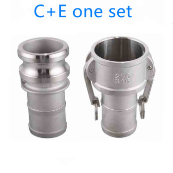 "цена на C+E one set of Camlock Fitting Adapter Homebrew 304 Stainless Steel Connector Quick Release Coupler 1/23/41"" 1-1/41-1/2"