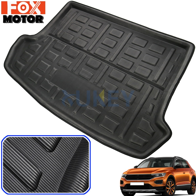 Fits VOLKSWAGEN  TOUAREG  ALL WEATHER  SEMI CUSTOM  CARGO MAT BLACK