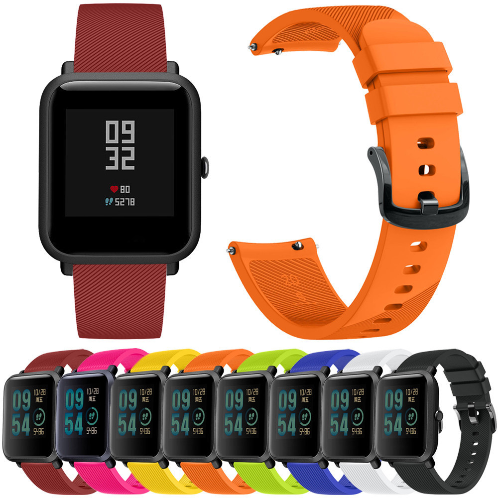 #H25 fitness bracelet Quick Release Replacement Silicone Easy <font><b>Fit</b></font> Wirstband For Huami <font><b>Amazfit</b></font> Bip Youth Watch image