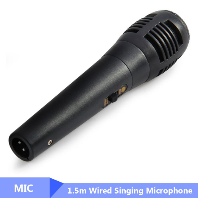 Traditional 1.5m Wired Singing Microphone Noodle Dynamic Long Speaker Rod Supporting Professional Performing Microphone