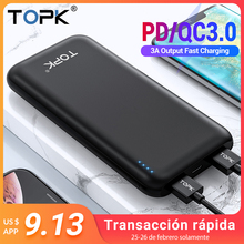 TOPK Power Bank 10000mAh Portable Charger Quick Charge 3.0 T