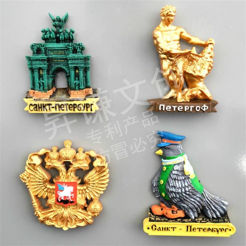 3D Harz Kühlschrank Aufkleber Russland St.Petersburg Kühlschrank Magneten Tourist Souvenir Attraktionen Home Küche Dekoration Geschenk Idee