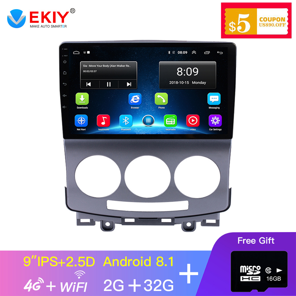 EKIY 9'' 2.5D IPS Car Radio Aoto Multimedia For <font><b>Mazda</b></font> <font><b>5</b></font> Android 2005-2010 Car <font><b>Gps</b></font> Navi Navigation Stereo Audio 4G Video Player image