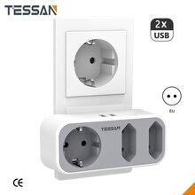 Tessan мини адаптер питания для дома настенная розетка usb европейская