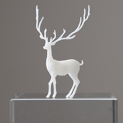 3D Elk Miniature Figurines Decoration Forest Miniatures Micro Landscape Decoration Stuffing Crystal Ball Plastic Fairy Deer