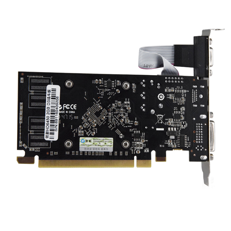 HD6450 GPU Veineda Desktop Graphics Cards hd6450 2GB DDR3 Graphic Video Card PCI Express For ATI Radeon Gaming 4