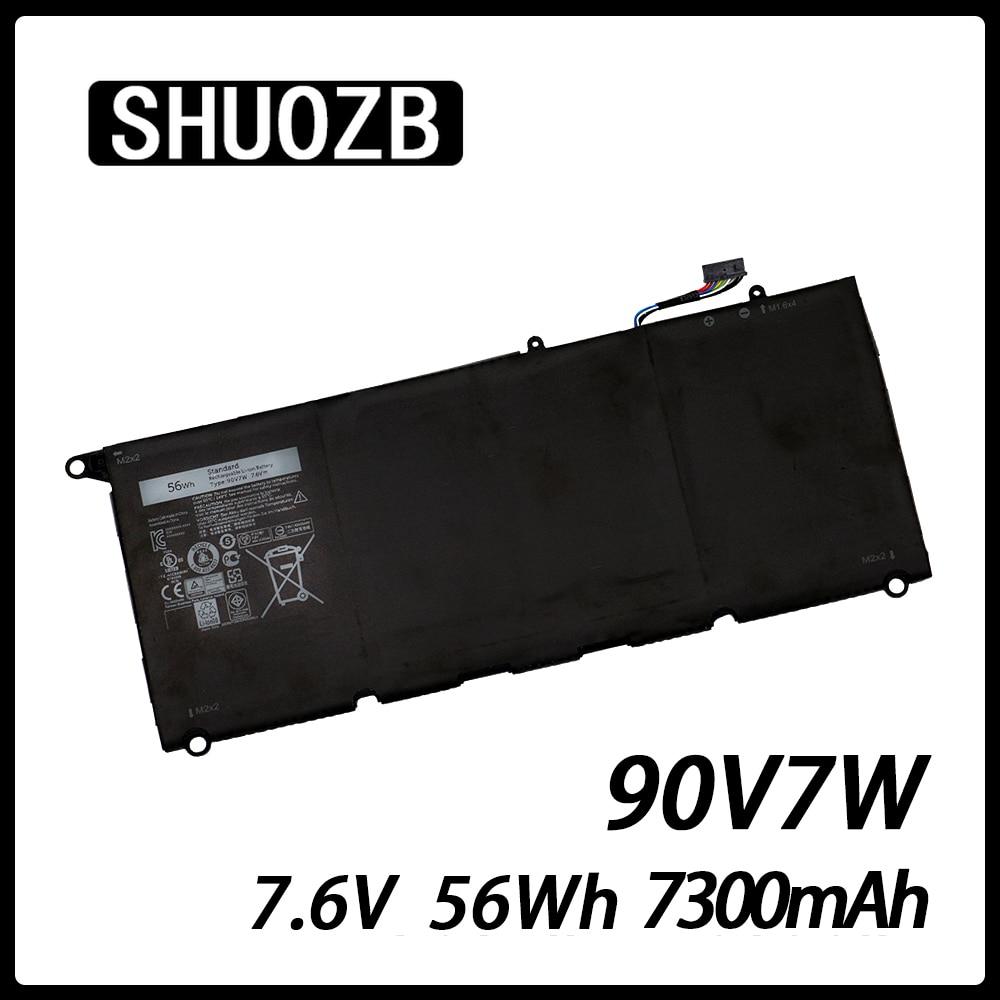 Laptop Battery 90V7W JHXPY 090V7W JD25G For Dell XPS 13 9343 9350 13D-9343 0N7T6 DIN02 P54G 0DRRP RWT1R 7.6V 56Wh 6930mAh SHUOZB
