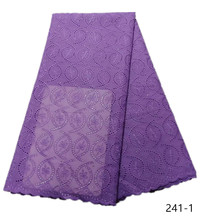 African Dry Lace Fabric 2019 High Quality Swiss Voile In Switzerland Nigerian Cotton For Wedding Party 241