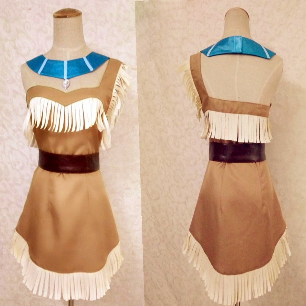 Pocahontas Costume Bueaty Indian Sexy Adult Princess Plus-Size Women for Girls title=