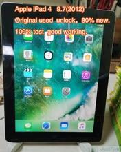 Original refurbish apple ipad 4 ipad 4th ipad 2012 9.7 polegadas versão wifi preto sobre 80% novo