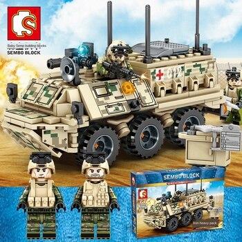 Technic militar Wars WW2 tanque camión de bloques de construcción, modelo de ejército clon Troopers soldado, minifiguras de coche, vehículo blindado, juego de Juguetes