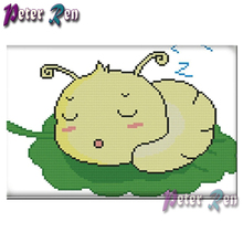 5d Diamond Painting Silkworm Mulberry Leaf  Embroidery DIY full Square/round Mosaic Picture Rhinestone Handmade Children's gifts