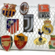 Футбольный клуб брошь с логотипом драгоценность с Барселона Реал Мадрид стекло логотип купола значок для футбольных болельщиков
