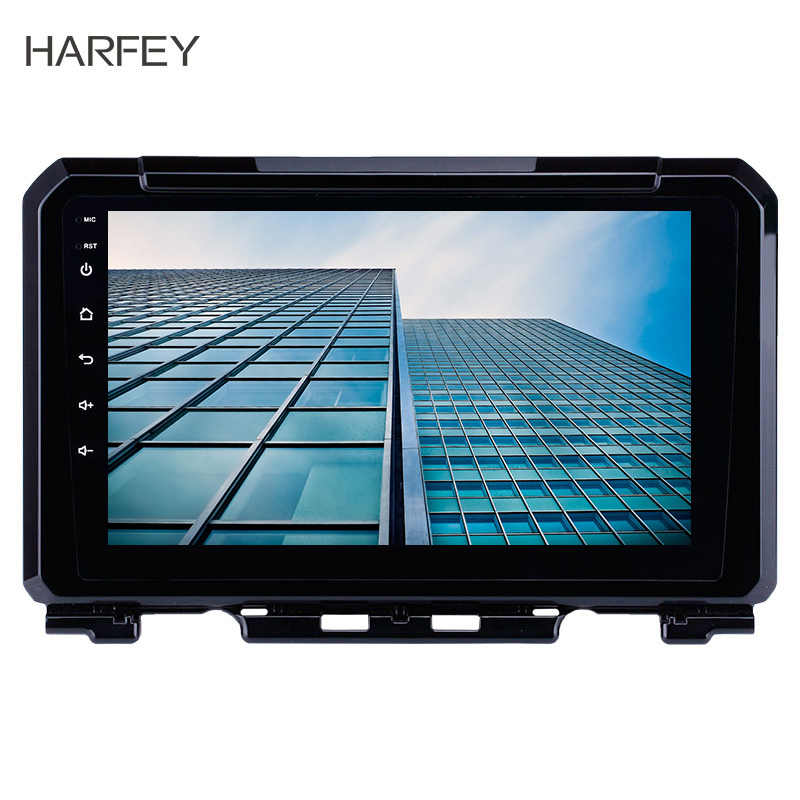 Harfey 2Din 9'' Android 8.1 Car Radio for Suzuki JIMNY 2019 GPS Navigation Multimedia Player Support DVR AUX Wifi OBDII SWC DVR