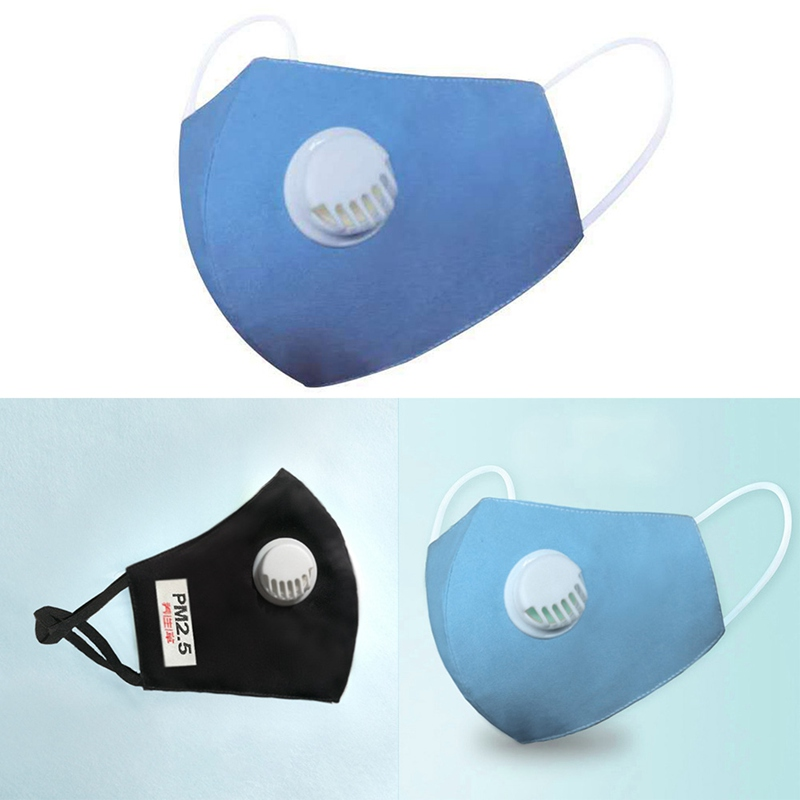 Anti Pollution Mouth Mask Dustproof Adults Masks Cotton Unisex Mouth Muffle With Breathing Valve PM 2.5 Mask