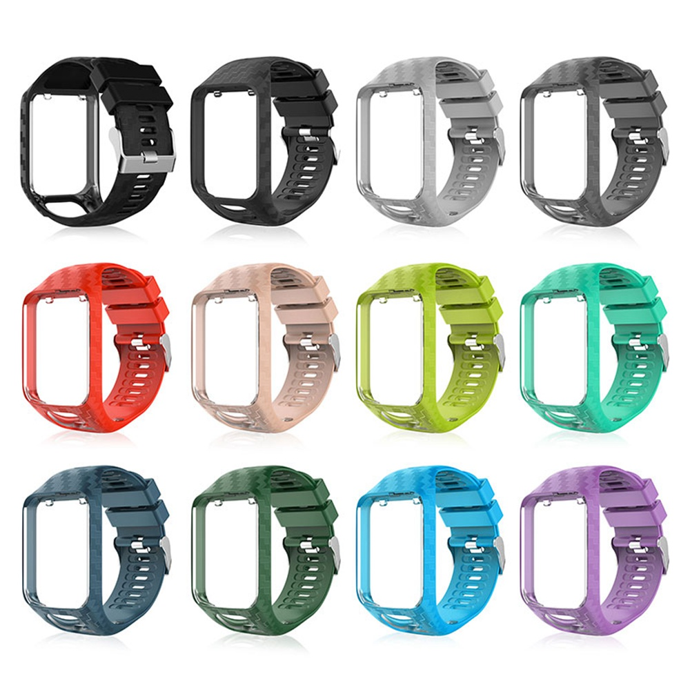 Soft Silicone Replacement Watch Band Wristband Strap Sport Bracelet For Tomtom Runner 2 3 Spark 3 Golfer 2 SportsRunning Watch