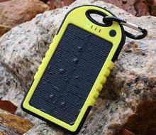 150pc Dual-USB Waterproof Solar charger 10000mah Power Bank Travel External Battery casse For iPhone Samsung Smartphone