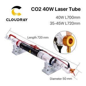 Image 2 - Cloudray Co2ガラスレーザーチューブ700ミリメートル40ワットガラスレーザー用CO2レーザー彫刻切断機