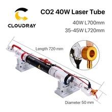 Cloudray Co2 זכוכית צינור לייזר 700MM 40W זכוכית לייזר מנורת עבור CO2 לייזר חריטת מכונת חיתוך
