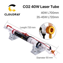 Cloudray Co2 Glas Laser Buis 700Mm 40W Glas Laser Lamp Voor CO2 Lasergravure Snijmachine