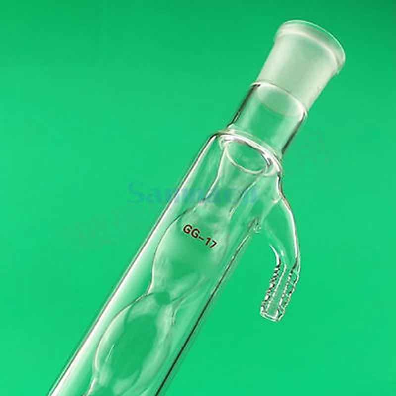 Lab Glassware Distillation Unit 400mm 19/26 Allihn Glass Condenser With Bulbed Innner Tube