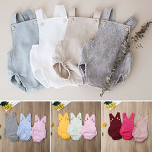 Cute Newborn Kids Bodysuit Baby Boy Girl Clothes Babygrow Jumpsuit Sunsuit Outfits Soild Childrens Summer 2019