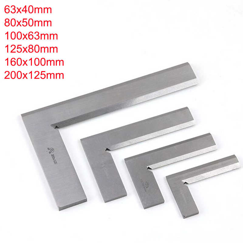 Stainless Steel Bladed 90 Degree 63x40 100x63 160x100mm Angle Try Square Ruler Bevel Edge Square Gauge edge angle ruler