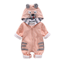 Fashion Animal Baby Romper Tiger  Infant Clothing Boy Girl Clothes Cute Cartoon Winter Warm Jumpsuit Costume 40
