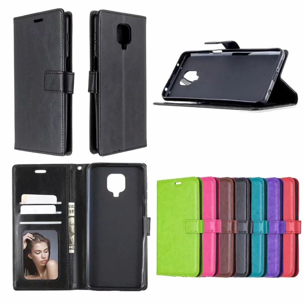 50Pcs/Lot Crazy Horse Wallet Leather PU TPU Cover TPU Phone Cases Case For LG G8X G8ST K40s Q7 K10 K580 K500