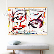 RELIABLE ART Abstract Pictures For Home Canvas Painting Wall Art For Living Room Decoration Colorful Posters And Prints NO FRAME modern abstract oil painting posters and prints wall art canvas painting colorful rhythm pictures for living room decor no frame