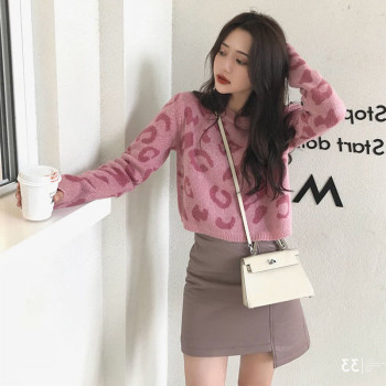 Japan All-match Lovely Autumn Beauty female Beauty loose Women Spring Sweater Girls ladies coat jumpers Pink Fashion Sweater 1