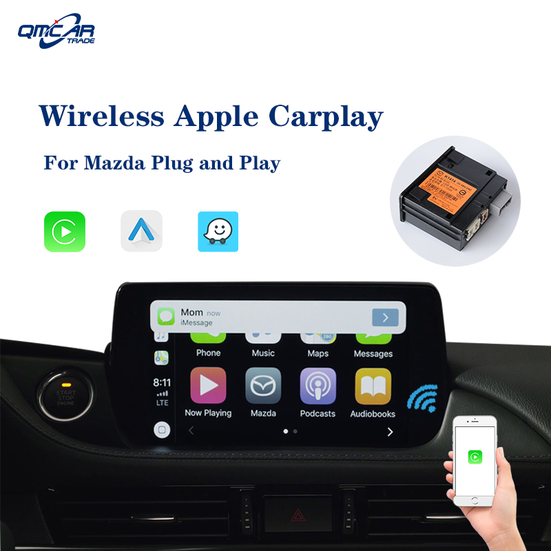 QMCAR For Apple Carplay /Android Auto for <font><b>Mazda</b></font> <font><b>CX</b></font>-3 <font><b>CX</b></font>-5 <font><b>CX</b></font>-<font><b>9</b></font> TK78 66 9U0C K1414 Multimedia player Airplay Car Play IOS 13 image