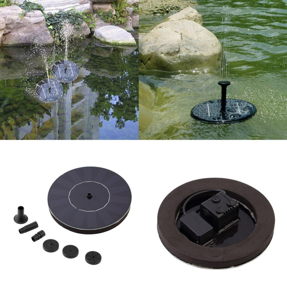 Solar Powered Water Pump Garden Fountain Floating Panel Watering Pond Kit For Waterfalls Water Display Clearance Sale